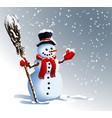snowman winter background vector image