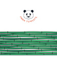 Template with bamboo Japanese background Bamboo vector image
