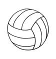 volleyball outline vector image