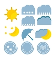 weather forecast color baby cute icon vector image