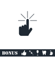 Hand click icon flat vector image