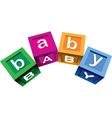Wooden baby blocks vector image