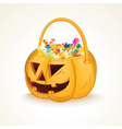 Halloween Pumpkin with Candies vector image vector image