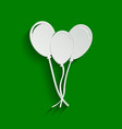 balloons set sign paper whitish icon with vector image