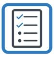 Checklist Page Flat Icon vector image