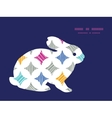 colorful marble textured tiles bunny rabbit vector image