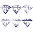 diamond symbols set vector image