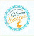 Happy Easter Vintage Holiday Badge Template for vector image