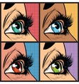 Seth colored eyes women of many nationalities vector image
