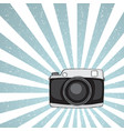 hipster camera on grunge background vector image