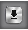 Download icon - metal app button vector image vector image