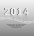 clean 2014 background vector image