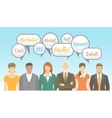 Foreign language school for adults flat vector image