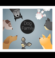 Animal background with dogs vector image