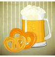 beer and pretzels vector image