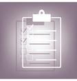 Checklist icon with shadow vector image