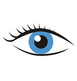 Eye with eyelashes vector image