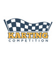 karting club or kart races sport competition vector image