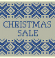 knitted christmas sale template banner eps 10 vector image