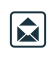mail icon Rounded squares button vector image