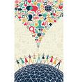 Social media people concept vector image
