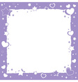 Valentine love romantic frame with hearts and star vector image