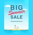 vertical poster on big summer sale theme bright vector image