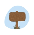 Wooden sign in snow - vector image vector image