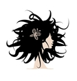 Woman head for your design vector image