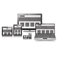 Responsive Layout Display Set vector image