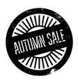 Autumn sale stamp vector image