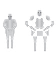 knight armor 02 vector image