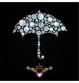 Love rain vector image