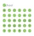 Round School Icons vector image