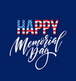 happy memorial day card national american holiday vector image