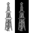 Oil Rig sketch vector image