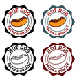 set of vintage labels with hot dog vector image
