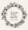 Wedding invitation design template with save the vector image
