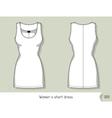 Women short dress Template for design easily vector image vector image