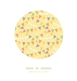 Party Decorations Bunting Circle Decor Pattern vector image vector image