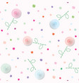 romantic girly seamless pattern background vector image vector image