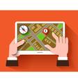 Mobile gps navigation vector image