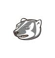 Badger Head Side Isolated Cartoon vector image