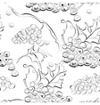 seamless wallpaper with grapes vector image