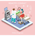 Remote Doctor 02 People Isometric vector image
