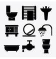 Bathroom icons design vector image