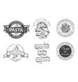 branding italian restaurant logo trattory vector image