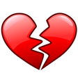 broken heart icon vector image