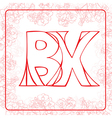 BX monogram vector image