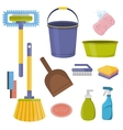 cleaning tools Flat design household vector image